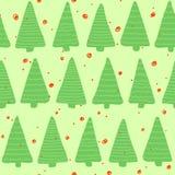 Christmas seamless pattern. Simple retro pattern of christmas tree Stock Photo