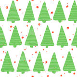 Christmas seamless pattern. Simple retro pattern of christmas tree Royalty Free Stock Images