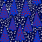 Christmas seamless pattern. Royalty Free Stock Photo