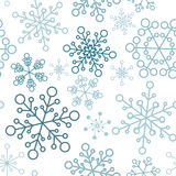 Christmas seamless pattern with simple snowflakes vector illustration