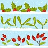 Christmas seamless pattern with snow Stock Image