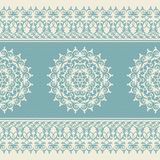Christmas seamless pattern with snowflake, blue Royalty Free Stock Photo