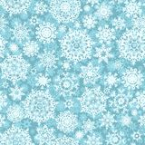 Christmas seamless pattern snowflake. EPS 10 royalty free stock photography