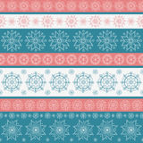 Christmas seamless pattern with snowflakes Stock Photo