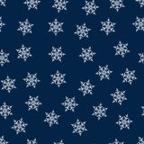 Christmas seamless pattern with snowflakes abstract background. Holiday design for Christmas and New Year fashion prints. Vector illustration Royalty Free Stock Images