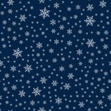 Christmas seamless pattern with snowflakes abstract background. Holiday design for Christmas and New Year fashion prints. Vector illustration Stock Image
