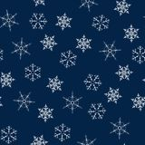 Christmas seamless pattern with snowflakes abstract background. Holiday design for Christmas and New Year fashion prints. Vector illustration Royalty Free Stock Photo