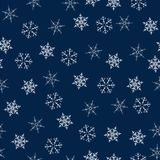 Christmas seamless pattern with snowflakes abstract background. Holiday design for Christmas and New Year fashion prints. Vector illustration Stock Photo