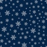 Christmas seamless pattern with snowflakes abstract background. Holiday design for Christmas and New Year fashion prints. Royalty Free Stock Images