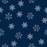 Christmas seamless pattern with snowflakes abstract background. Holiday design for Christmas and New Year fashion prints. Vector illustration Royalty Free Stock Photography