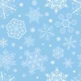 Christmas seamless pattern from snowflakes Royalty Free Stock Photography
