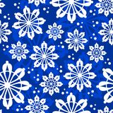 Christmas seamless pattern with snowflakes Royalty Free Stock Photography