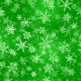Christmas seamless pattern of snowflakes stock illustration