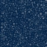 Christmas seamless pattern from snowflakes. New year festive texture for design postcards, invitations, greetings, and clothing. Vector illustration Stock Images