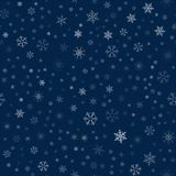 Christmas seamless pattern from snowflakes. New year festive texture for design postcards, invitations, greetings, and clothing. Vector illustration Royalty Free Stock Images