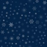 Christmas seamless pattern from snowflakes. New year festive texture for design postcards, invitations, greetings, and clothing. Vector illustration Royalty Free Stock Photography