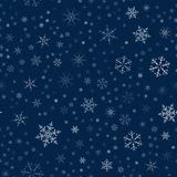 Christmas seamless pattern from snowflakes. New year festive texture for design postcards, invitations, greetings, and clothing. Vector illustration Royalty Free Stock Image