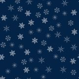 Christmas seamless pattern from snowflakes. New year festive texture for design postcards, invitations, greetings, and clothing. Vector illustration Stock Photos