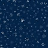 Christmas seamless pattern from snowflakes. New year festive texture for design postcards, invitations, greetings, and clothing. Vector illustration Royalty Free Stock Photos