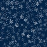 Christmas seamless pattern from snowflakes. New year festive texture for design postcards, invitations, greetings, and clothing. Vector illustration Stock Photo