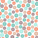 Christmas seamless pattern with snowflakes Royalty Free Stock Image
