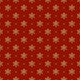 Christmas Seamless Pattern of Snowflakes on Red Backdrop. Continued Winter Background for Cloth, Fabric, Textile, Tissue, Pack Paper, Wrapping Paper Royalty Free Stock Photography