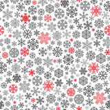 Christmas seamless pattern from snowflakes Stock Photos