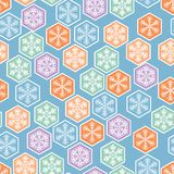Christmas seamless pattern with snowflakes in Stock Photos