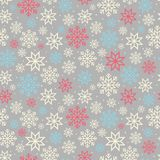 Christmas seamless pattern with snowflakes Stock Image