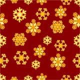 Christmas seamless pattern of snowflakes vector Stock Photo