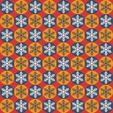 Christmas seamless pattern with snowflakes Stock Photos