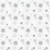 Christmas seamless pattern with snowflakes white background eps 10 stock illustration