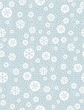 Christmas seamless pattern with snowflakeson blue background,  v Stock Images