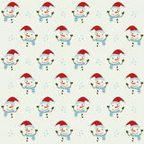 Christmas seamless pattern with snowman Royalty Free Stock Photos