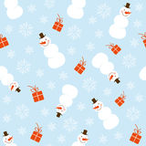 Christmas seamless pattern. With snowman Stock Photography