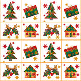 Christmas seamless pattern in the style of patchwork texture bac Stock Photos