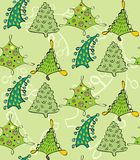 Christmas. Seamless pattern in the style retro Stock Photo