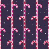 Christmas seamless pattern with sweets. Vector illustration Royalty Free Stock Photos