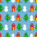 Christmas seamless pattern. Symbols of  winter holiday Stock Photos