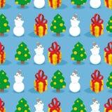 Christmas seamless pattern. Symbols of  winter holiday Stock Photos