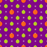 Christmas seamless pattern. Toy balls of diffent colors Royalty Free Stock Images