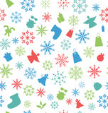 Christmas Seamless Pattern with Traditional Royalty Free Stock Images