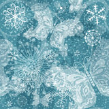Christmas silvery seamless pattern Royalty Free Stock Images