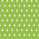 Christmas seamless pattern with christmas trees on green background. Winter Holidays texture. Design for wallpaper, web. Page background, wrapping paper Royalty Free Stock Images