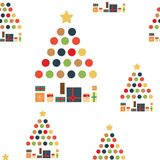 Christmas seamless pattern of Christmas trees on white background. royalty free illustration