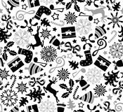 Christmas seamless pattern. Christmas seamless two colors repeat pattern Stock Image