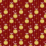 Christmas seamless pattern. Vector background. Royalty Free Stock Photo