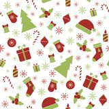 Christmas seamless pattern. Vector seamless pattern with Christmas festive elements Royalty Free Stock Image