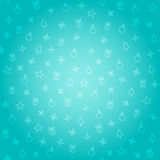 Christmas seamless pattern. Vector seamless holiday background in blue vector illustration