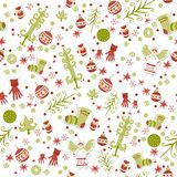 Christmas Seamless Pattern. Vector illustration. Royalty Free Stock Images